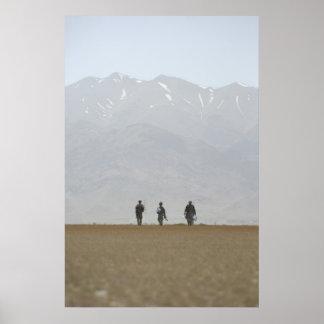 Troops in Afghanistan Poster