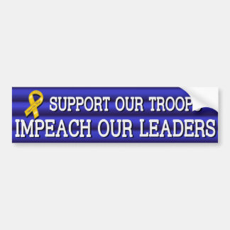 Troops Leaders Sticker Blue Bumper Sticker
