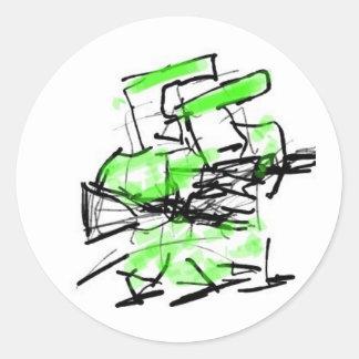 Troops Round Sticker