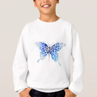 Tropenillo V1 - the blue butterfly without back Sweatshirt