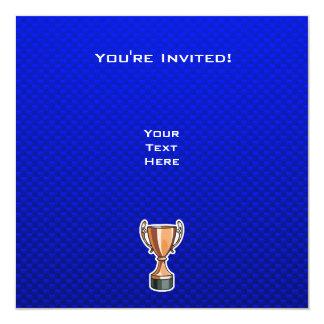 Trophy; Blue 13 Cm X 13 Cm Square Invitation Card