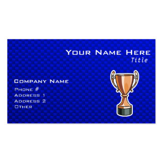 Trophy; Blue Business Card Template