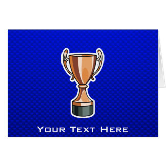 Trophy; Blue Greeting Card