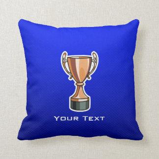 Trophy; Blue Pillow