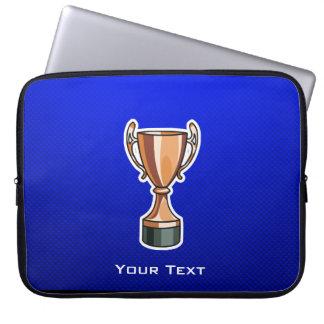 Trophy; Blue Laptop Computer Sleeve