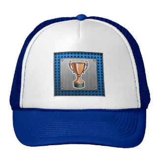 Trophy; Brushed Metal-look Mesh Hat