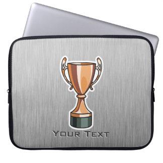 Trophy; Brushed Metal-look Laptop Sleeves