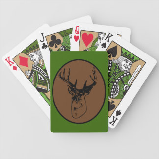 Trophy Buck Deer Head Hunter Silhouette Bicycle Playing Cards