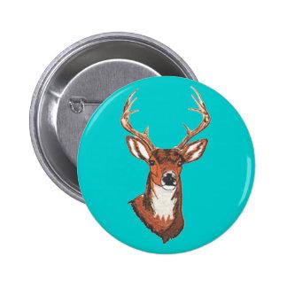 Trophy Buck Rack Mount 6 Cm Round Badge