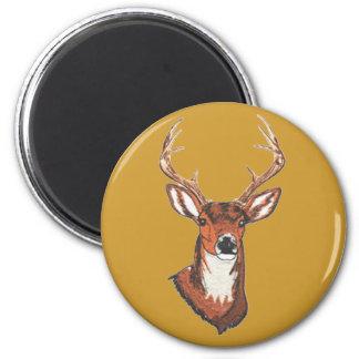 Trophy Buck Rack Mount 6 Cm Round Magnet