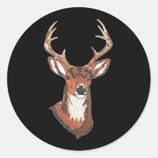 Trophy Buck Rack Mount Round Stickers