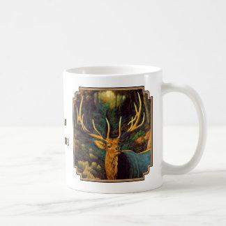 Trophy Bull Elk in Autumn Basic White Mug