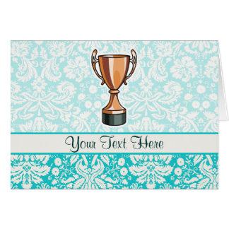 Trophy; Cute Greeting Card