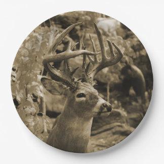 Trophy Deer 9 Inch Paper Plate