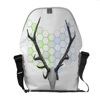 Trophy Deer antlers geometric pattern Courier Bag