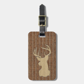 Trophy Deer with Antlers Luggage Tag