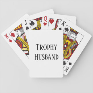 Trophy Husband Christmas Gift Playing Cards