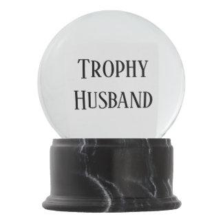 Trophy Husband Christmas Holiday Gift Snowglobe