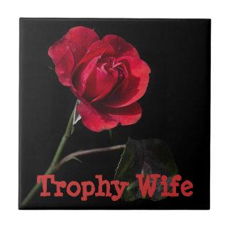 Trophy Wife Rose Tile
