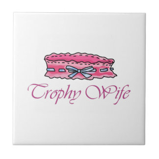 TROPHY WIFE SMALL SQUARE TILE