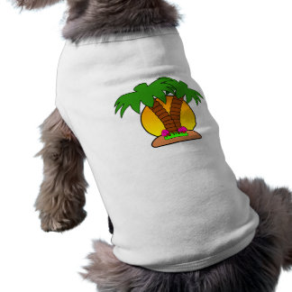 Tropic Island Doggie Ribbed Tank Top Sleeveless Dog Shirt