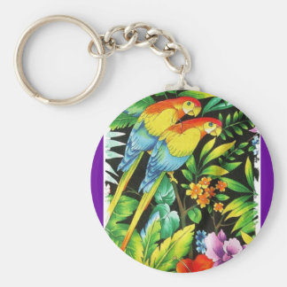 tropic@l summer basic round button key ring
