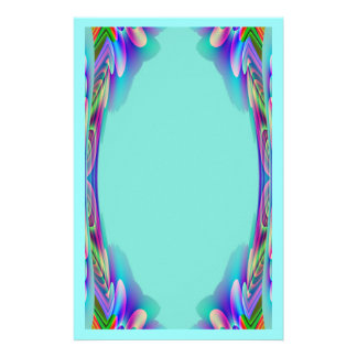 Tropical Abstract Aqua Stationery
