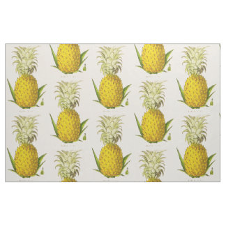 Tropical Accent Vintage Botanical Queen Pineapple Fabric