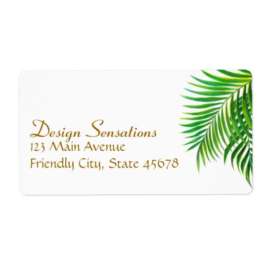 Tropical address label