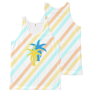 Tropical All-Over Print Tank Top