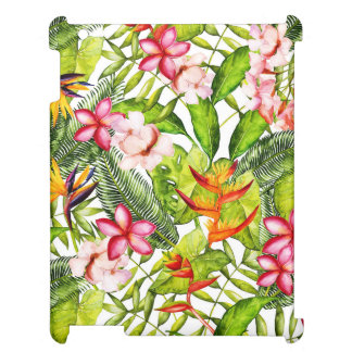 Tropical Aloha  Exotic Jungle Flowers Case For The iPad