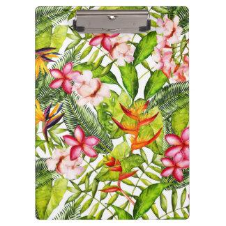 Tropical Aloha  Exotic Jungle Flowers Clipboard