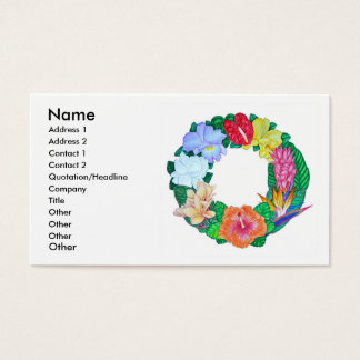 Tropical Aloha Wreath Business Card