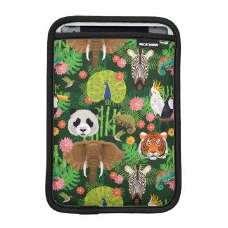 Tropical Animal Mix iPad Mini Sleeve