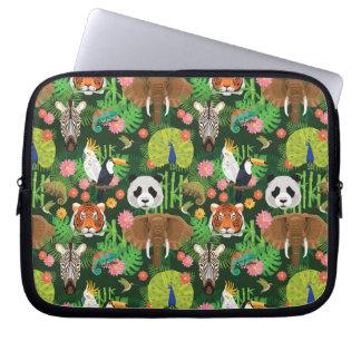 Tropical Animal Mix Laptop Sleeve