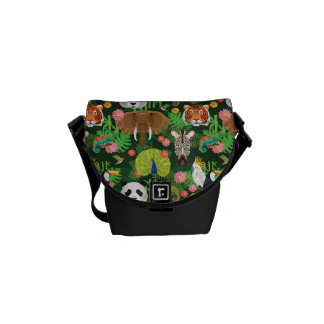 Tropical Animal Mix Messenger Bags