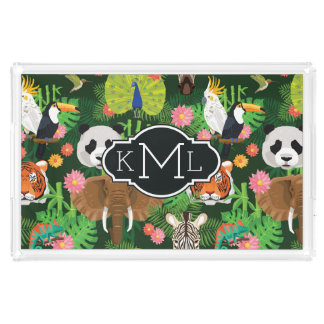 Tropical Animal Mix | Monogram