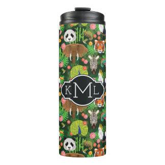 Tropical Animal Mix | Monogram Thermal Tumbler