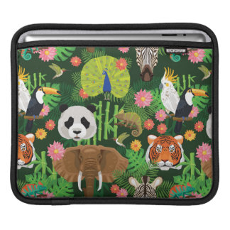 Tropical Animal Mix Sleeve For iPads
