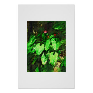 Tropical Anthurium - Afternoon in the Garden Print