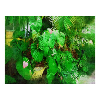Tropical Anthurium - Afternoon in the Garden Posters