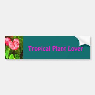 Tropical Anthurium Bumper Sticker