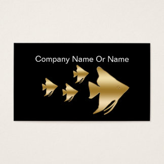Tropical Aquaruim Silhouette Business Cards