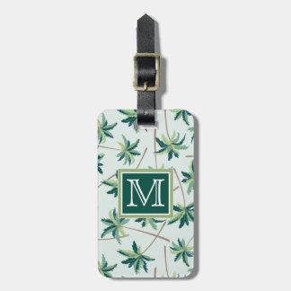 Tropical Australian Foxtail Palm | Monogram Luggage Tag