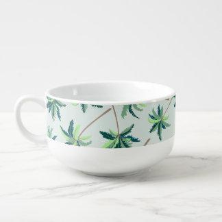 Tropical Australian foxtail palm Soup Mug