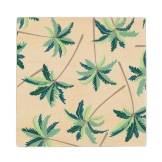 Tropical Australian Foxtail Palm Wood Coaster