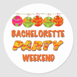Tropical Bachelorette Party Weekend Classic Round Sticker