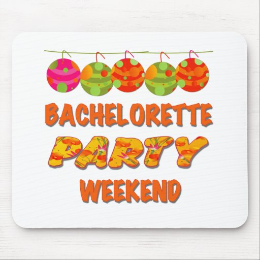 Tropical Bachelorette Party Weekend Mouse Mat