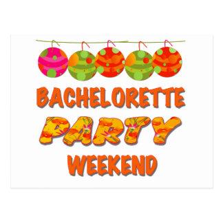 Tropical Bachelorette Party Weekend Postcard