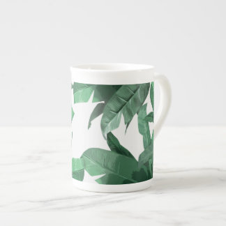 Tropical Banana Leaf Bone China Mug